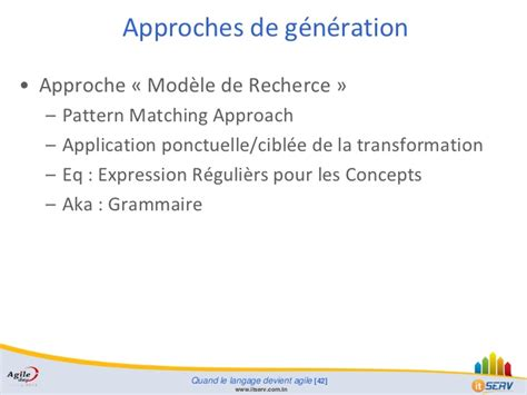 pattern matching in tcl agile day tunisia 2012 quand le langage devient agile