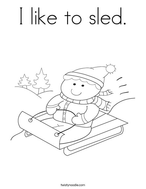 Coloring Page Of S Sled New Calendar Template Site Sled Coloring Pages