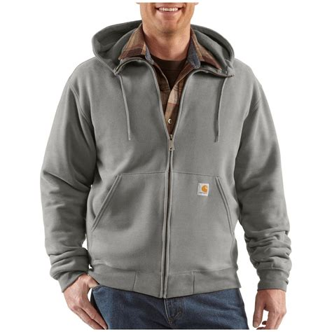 Brushed Fleece Lined Top carhartt 174 brushed fleece hooded zip sweatshirt