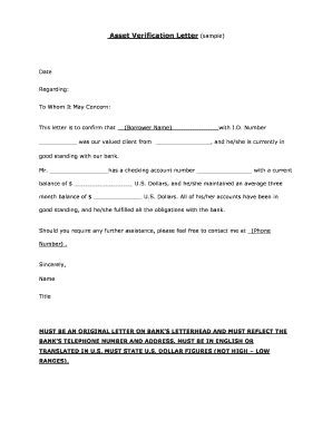 Verification Of Assets Letter To Whom It May Concern Letter Template Word Forms Fillable Printable Sles For Pdf Word