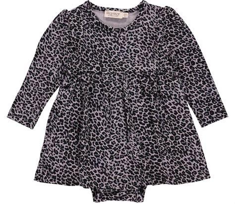 baby jurk grijs marmar leo ramona grey babydress jurk luipaard grijs zwart