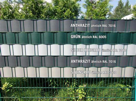sichtschutz streifen zaun kunststoff anthrazit dm77 hitoiro