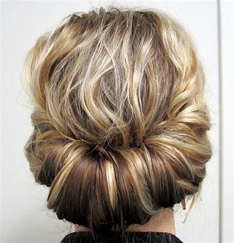 hair updo shoulder long this chignon is great for gals with shoulder length hair