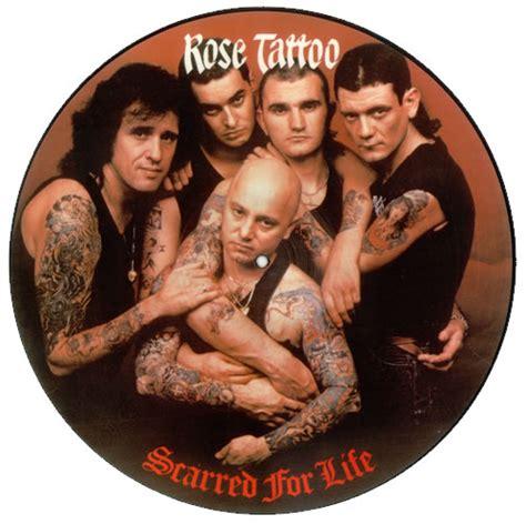 rose tattoo scarred  life uk picture disc lp vinyl