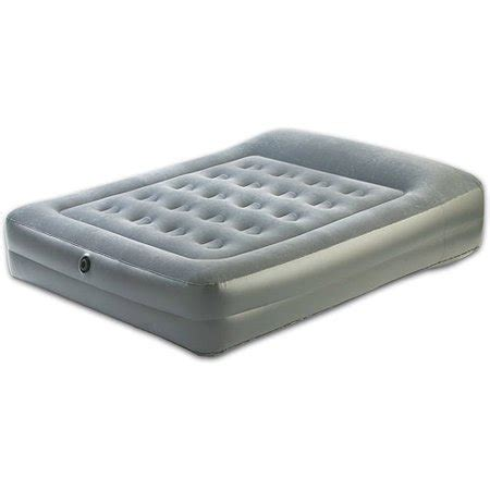 aerobed guest choice elevated air mattress with built in pillow walmart