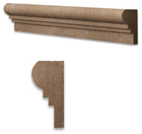 decorative chair rail molding noce noche honed travertine chair rail decorative molding