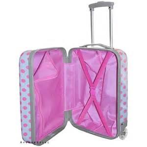 valise cabine enfant 224 pois blanche pas cher