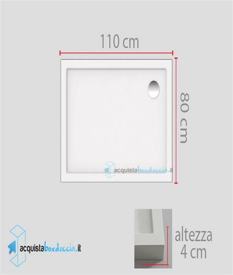 piatto doccia 110 x 80 vendita piatto doccia 80x110 cm altezza 4 cm