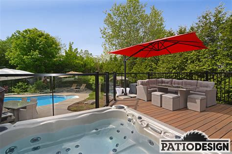 Terrasse Spa Patio by Patio Design Construction Design De Patios Pour Un Spa