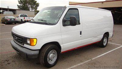 find used no reserve in az 2005 ford e 150 cargo van seized engine non runner bulk head in
