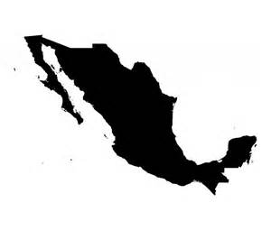 Bathroom Stickers For Walls mexico map silhouette vinyl wall art sticker mexican
