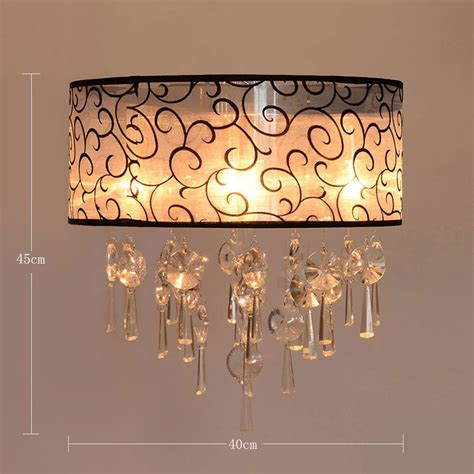 Living Room Bedroom Chandelier Modern Crystal Pendant Living Room Ceiling Light Fixture