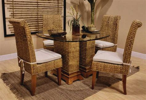 Rattan Dining Room Table And Chairs With Wicker Chairs Rattan Dining Room Table And Chairs And