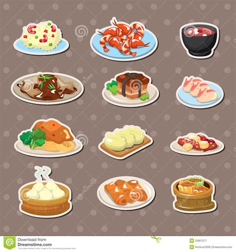 Japanese Style Home Plans chinese food stickers stock vector image of cuisine