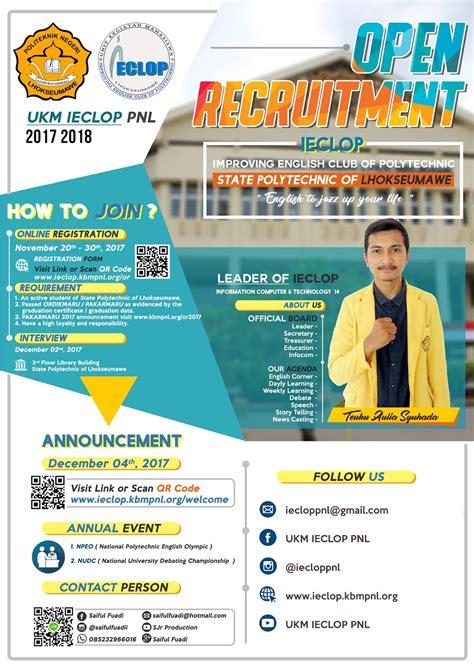 open recruitment ukm ieclop  ukm ieclop pnl