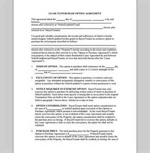 Lease Purchase Agreement Template purchase template for lease agreement sample of lease