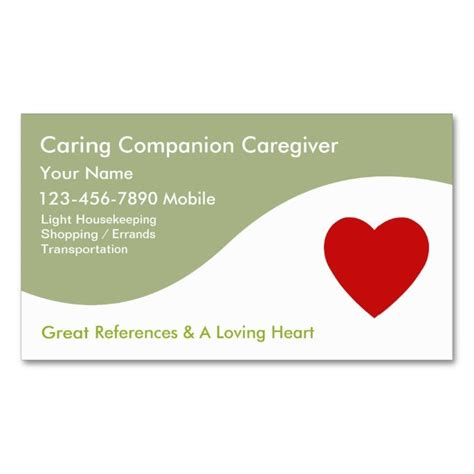 Sle Template Business Card by Caregiver Business Cards This Is A Fully Customizable