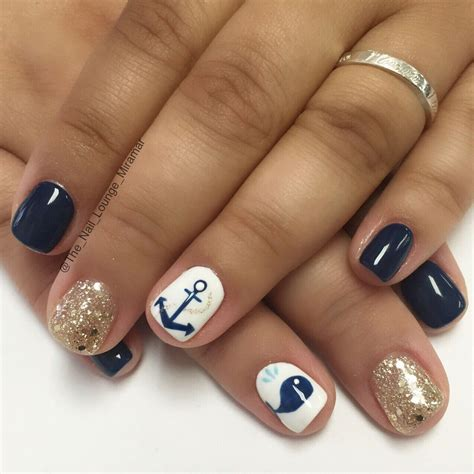 Cruise Nail Designs anchor whale cruise nail design nail