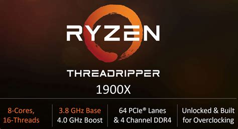 Amd Ryzen Threadripper 1900x 3 8ghz amd ryzen threadripper 1920x 8 cpu will cost 549