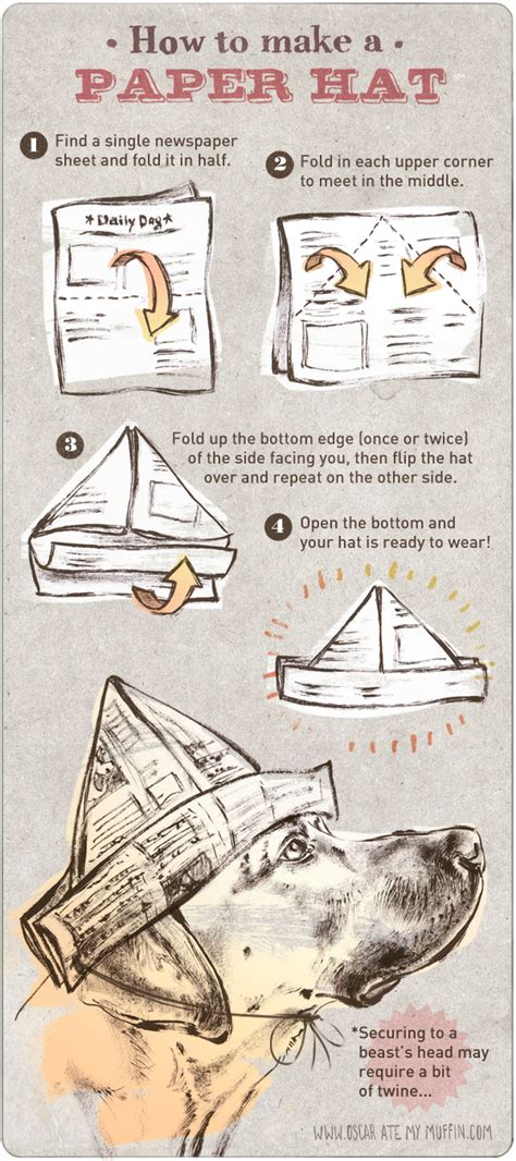 How To Make A Paper Hat With Newspaper - move 2012 oscar ate my muffin