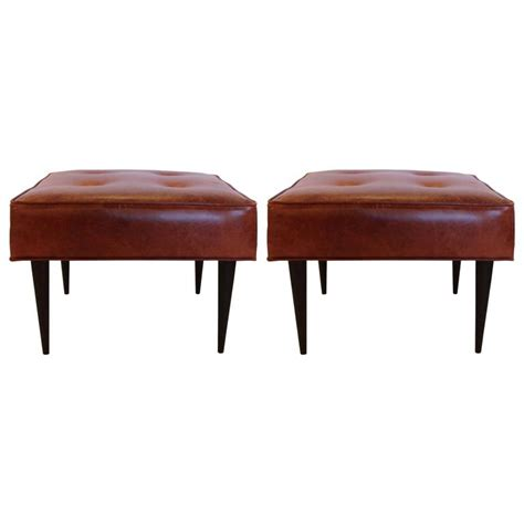 leather benches for sale leather benches in the manner of paul mccobb for sale at