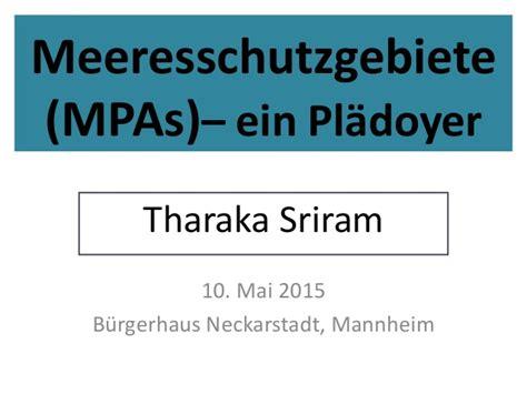 Mp Er Shares Thoughts On meeresschutzgebiete mp as slideshare tharaka sriram