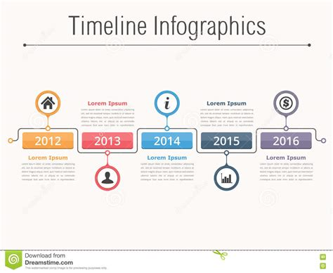 workflow timeline template timeline infographics stock vector illustration of date