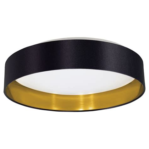 black flush mount ceiling light eglo 31622a maserlo 1 led light flush mount in black