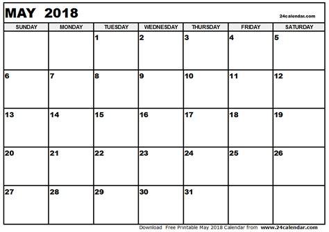 printable calendar 2018 free may 2018 printable calendar free calendar 2018