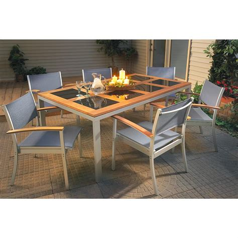 7 Pc Patio Dining Set 7 Pc Contempo Dining Set 155281 Patio Furniture At Sportsman S Guide