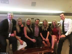 donald trump family photos pregnant ivanka trump beams in family photo with her