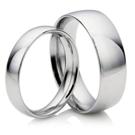 his hers platinum wedding rings 2mm 5mm d shape