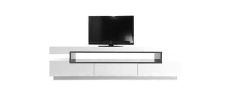 Meuble TV design laqué blanc brillant LIVO   Miliboo