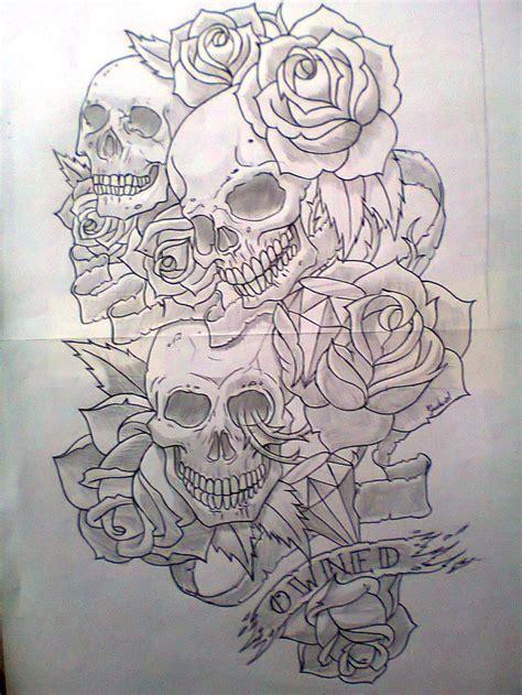 new school skull tattoo design 16 best new school skull and cross designs images