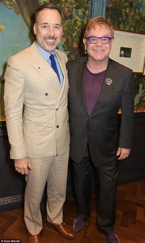 Reunited Posh By Davids Side As He Spends Another Day With Sick by Elton And David Furnish Reunited At Mayfair