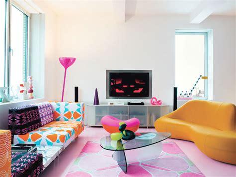 pop interior design colorful home interior design by karim r レトロでポップな