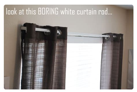 simple curtain rods paint your curtain rods a simple diy