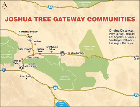 california map joshua tree morongo basin area attractions things to do