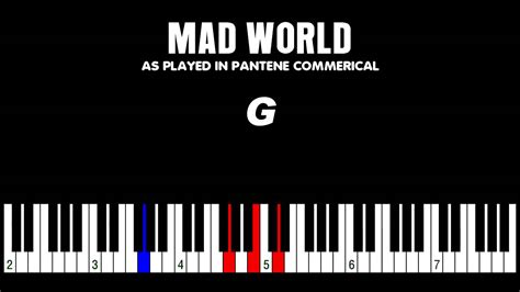 tutorial piano mad world how to play quot mad world quot from pantene commercial piano