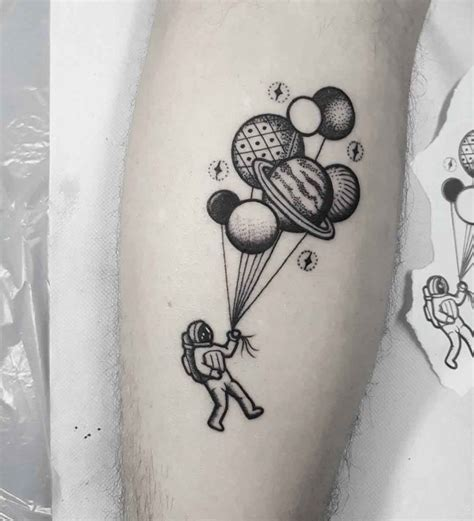 astronaut with balloons tattoo best tattoo ideas gallery