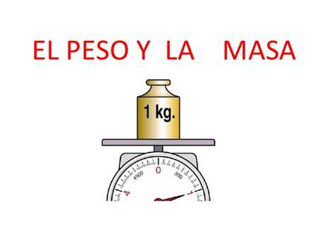 el peso de los el peso y la masa