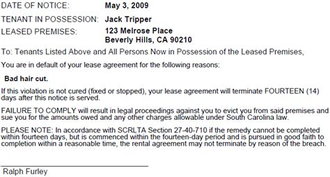sle eviction notice for nonpayment demand letter carolina ngs j13 part b demand letter