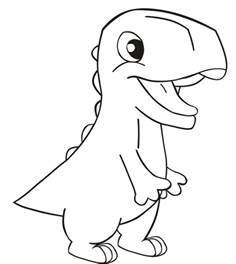dinosaurs drawing www galleryhip hippest pics
