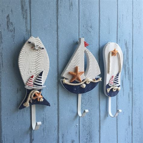 Wall Hooks For Hanging Clothes Other Home Living Mediterranean Style Pothook Nautical