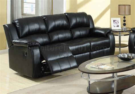 black leather power reclining sofa 7261 power reclining sofa in black bonded leather w options