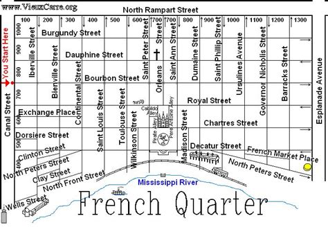 printable french quarter new orleans maps signs photographed in the french quarter