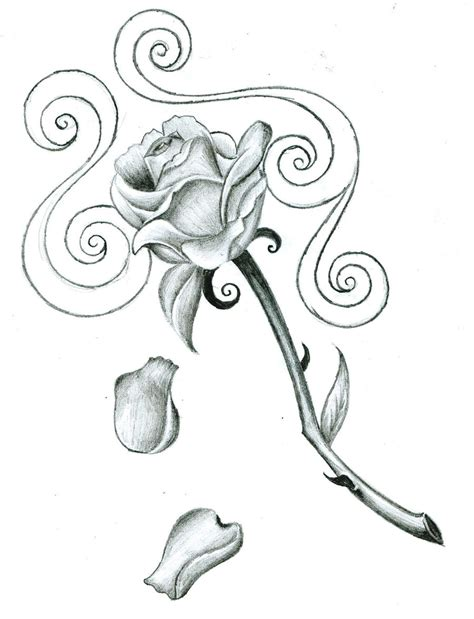free rose tattoo designs to print design by bakerzero417 on deviantart