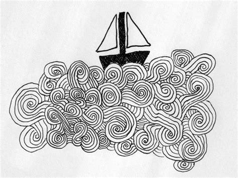 boat waves drawing gurublog art