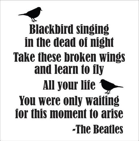 testo one moment in time 25 best ideas about blackbird lyrics on bird