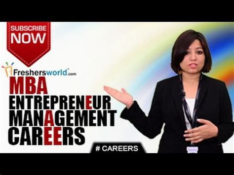 Entrepreneur Mba by Careers In Entrepreneur Management Mba Self Employment